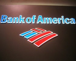 Bank of America Acrylic Signs