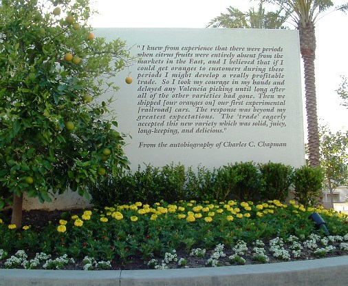 Chapman University Orange CA Monument