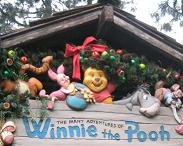 Sandblasted Winnie the Pooh Wood Sign at Disneyland Resort Anaheim CA