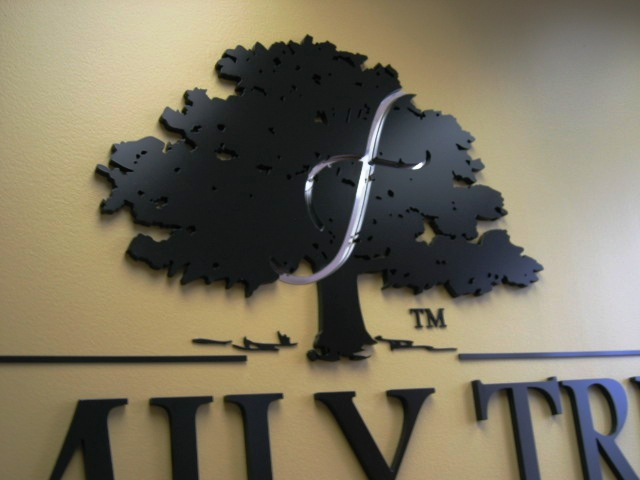 Family Tree Lending Lobby Sign Close Up Anaheim CA