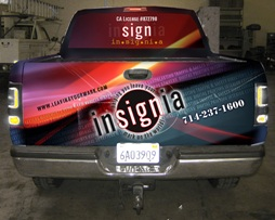 Insignia Truck Vinyl Vehicle Wrap Digital Graphics and Large Format Printing