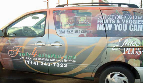 Juice Plus Anaheim CA Vehicle Graphics