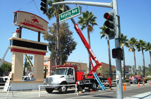 Los Alamitos Race Course California Pylon Sign Installation