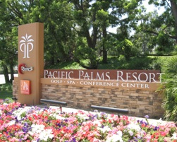 Entry Monument for Pacific Palms Resort in La Puente CA