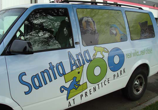 Santa Ana Zoo Car Vinyl Graphics